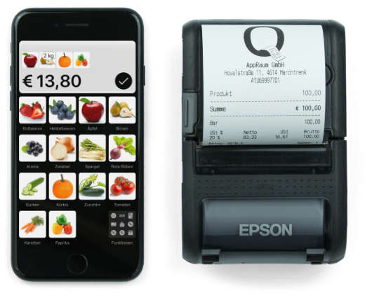QuickBon Kassensystem mobil